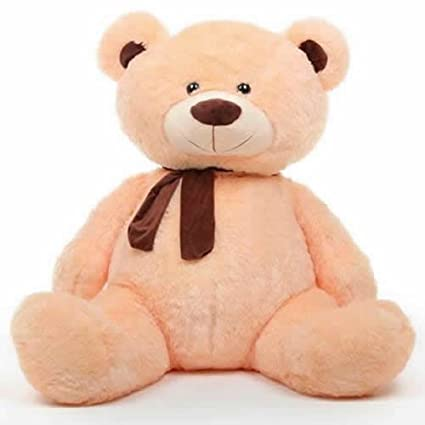f357f6bfdd4 Buy Cream 5 Feet Big Teddy Bear with Muffler Online at Low Prices in India  - Amazon.in