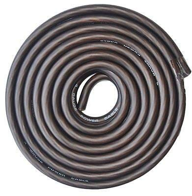 SoundBox Connected 4 Gauge Black Amplifier Amp Power/Ground Wire 25 Feet Superflex Cable 25
