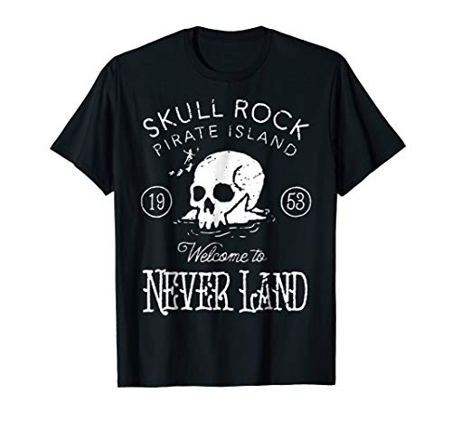 Disney Peter Pan Skull Rock Vintage Graphic T-Shirt ()