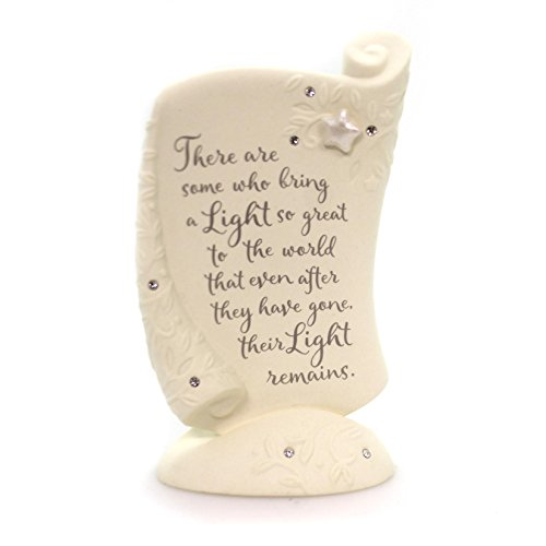 Foundations Bereavement Plaque Porcelain Figurine, (Bereavement Plaque)