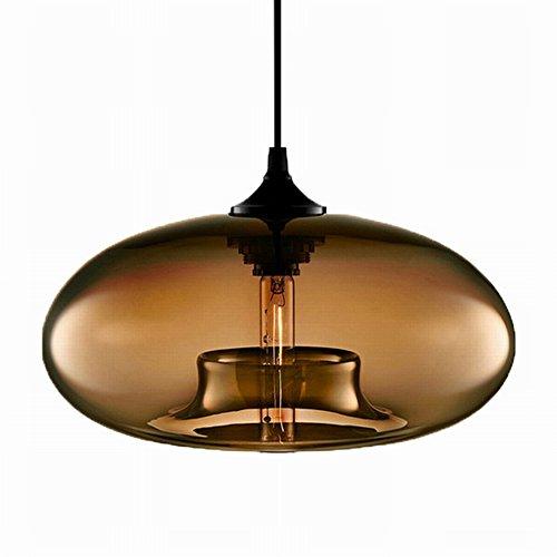 Modern Simple Glass Pendant Lights Kitchen Island Lighting Fixtures (coffee)