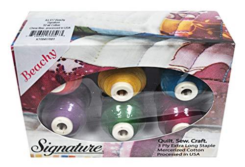 Cotton Mini King Spools - Signature 50 Cotton Mini King 6 Spool Gift Pack - Beachy