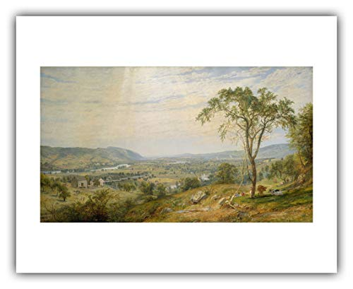 The Ibis Print Gallery - Jasper Francis Cropsey : ''The Valley of Wyoming'' (1865) - Giclee Fine Art Print