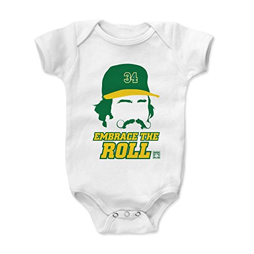 500 LEVEL Rollie Fingers Baby Clothes, Onesie, Creeper, Bodysuit 3-6 Months White - Vintage Oakland Baseball Baby Clothes - Rollie Fingers Silhouette G