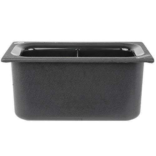 TableTop King CM110303 Coldmaster 1/3 Size Black Divided Cold Food Pan - 6