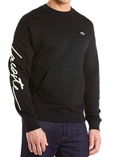 - Lacoste Unisex Live Crew Neck Embroidered Fleece Sweatshirt (Medium)