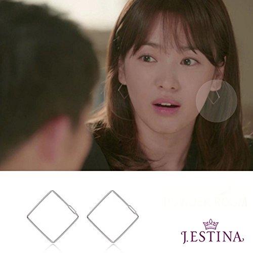 J-estina Profilo Helio Boucles d'oreilles Hye KYO chanson des boucles d'oreilles 'Descendants du soleil' Corée populaire Soap Opéra