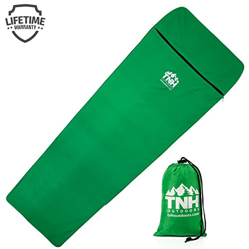 TNH Outdoors Sleeping Bag Liner Sleeping Bag Liners - Lightweight Sleeping Sheet - Perfect for Traveling and Camping Sleeping Bags - Warm in Winter with Great Insulation