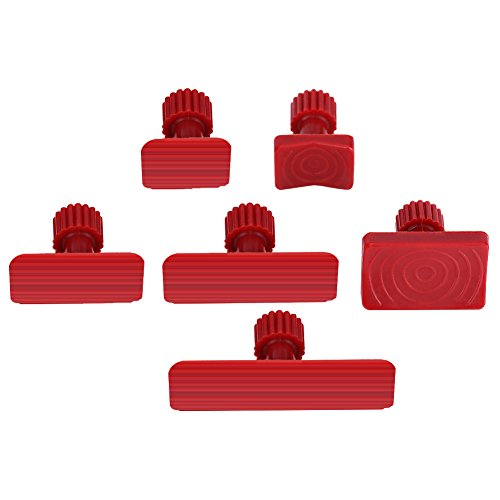 Terisass Dent Repair Tools, 6Pcs Nylon Car Auto Body Dents Removal Pulling Tabs Kit Vehicle Universal Paintless Glue Puller Tabs Red