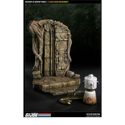 Diorama Joe Gi (Sideshow Collectibles - G.I. Joe diorama Recovery at Serpent Temple 42 cm)