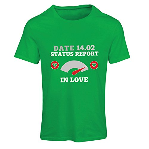 T Shirts for Women February 14 Valentine's Day Status Report. I Love You ! (Small Green Multi - Ftd Candy