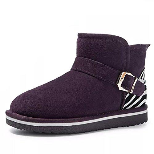 58afef8c7191a Para Botas Tamaño 35 Uva Bajas Zapatos Mujer Mantener Uva Botines Cortas La  color De Femeninas ...