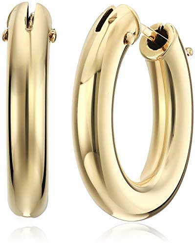 Roberto Coin Women's Medium Size Oval Hoop Earrings, Yellow, One Size
