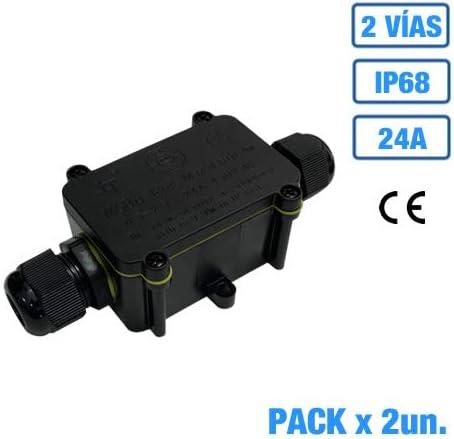 Caja estanca de empalme IP68 con regleta de conexión 24A (2, 2 ...