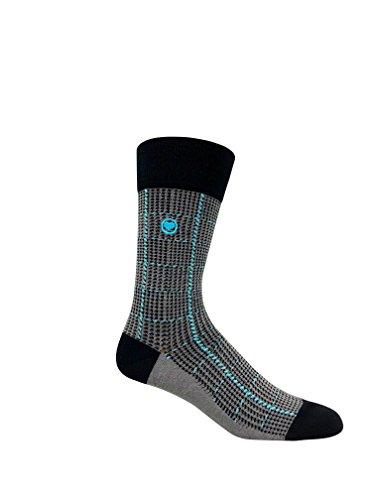 LOVE SOCK COMPANY Black Organic cotton men's dress socks bundle. 3 Premium black socks solid, polka dots and houndstooth patterned socks set by LOVE SOCK COMPANY (Image #4)