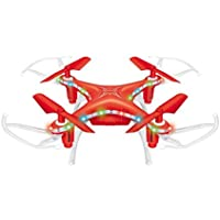 Memela(TM)X13D Mini Drone 2.4GHz 3D Rollover 4CH Led RC Quadcopter Christmas Gift for Kids (Red)