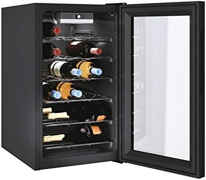 Candy DiVino CWC 021 M/N 73 litros, 21 botellas, conservación de 7 a 18 °C, interfaz mecánica, 6 clavijas de metal, 39 d(B) A, asas integradas, color negro