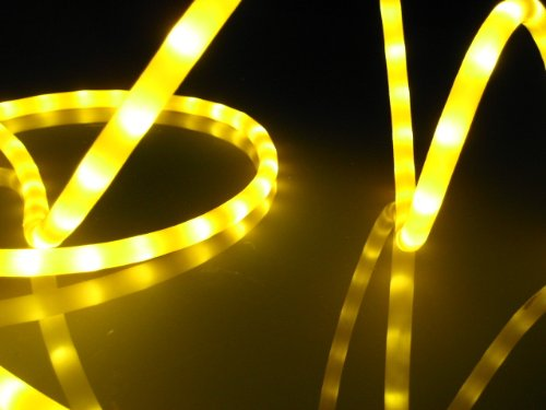 Amazon 18ft rope lights golden yellow led rope light kit 10 18ft rope lights golden yellow led rope light kit 10quot led spacing mozeypictures Gallery