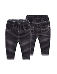 Buy-Box Toddler Kids Boys Girls 1pcs Pants Stretch Jeans Casual Long Denim Pant