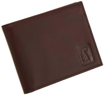PGA TOUR Men's Slimfold Wallet In Gift Tin,Cognac,One Size
