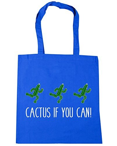 HippoWarehouse 10 You Cactus x38cm Bag 42cm Shopping Cornflower If Can Blue Beach Gym Tote litres PHrqP