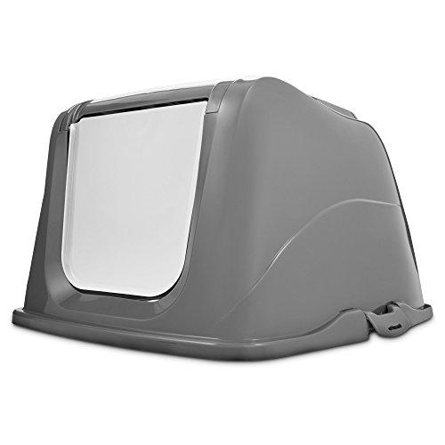 So Phresh Flip Top Cat Litter Box Hood in Grey, X-Large, Gray by So Phresh