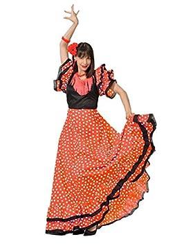 DISBACANAL Vestido de sevillana Adulto - Único, XL