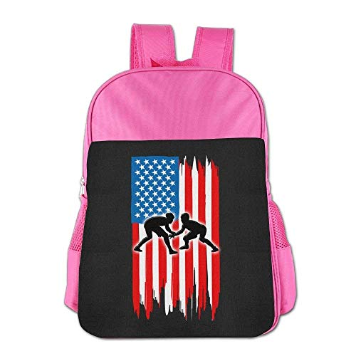 American Flag Wrestling Children School Backpack Carry Bag For Kids Boy Girl by Weestone