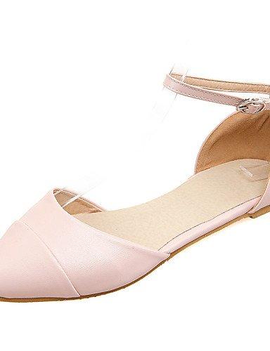 Flats 5 amarillo Beige pink oficina cn37 plano y Toe zapatos uk4 eu37 5 5 us6 PDX vestido mujeres las de carrera casual 7 señaló rosa talón Aa8x4qS6Tw