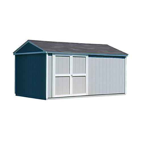 Handy Home Products Somerset Wooden Storage Shed with Floor, 10 by 14-Feet
