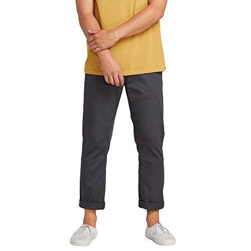 Volcom Men's Frickin Modern Fit Stretch Chino Pant, Charcoal, 31X30