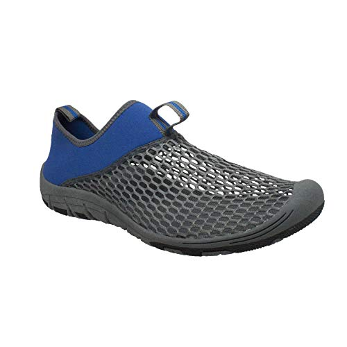 RocSoc: Water Shoes for Men, Aqua Shoes & Beach Shoes for Kayaking, Swimming, Surfing & Snorkeling, Must Have Scuba Gear for Water Sports, Blue Size 9