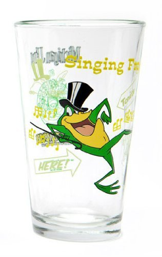 Tunes Glass Looney - Toon Tumbler™: MICHIGAN J FROG (LOONEY TUNES) 16 Ounce pint glass