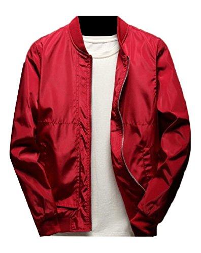 Leggera A Sicurezza Di Giacca Lunga Giacca Manica Full Zip Degli Outwear Della Uomini Vento Baseball Rosso wEqnxd4qA