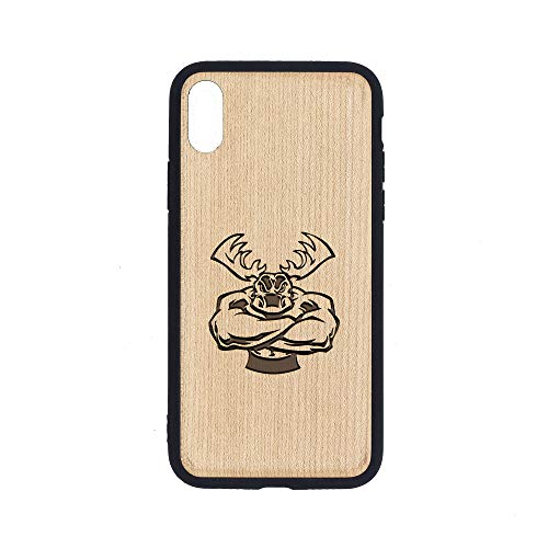 - Moose Off Road Apparel - iPhone Xs MAX Case - Maple Premium Slim & Lightweight Traveler Wooden Protective Phone Case - Unique, Stylish & Eco-Friendly - Designed for iPhone Xs MAX