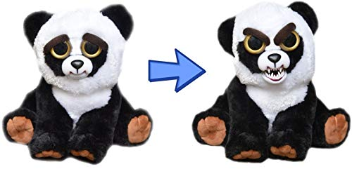 Feisty Pets Black Belt Bobby Plush Stuffed Panda That Turns Feisty with a Squeeze