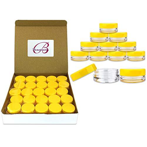 Beauticom 3 Gram / 3 ML  Round Acrylic Small Sample Jar Cont