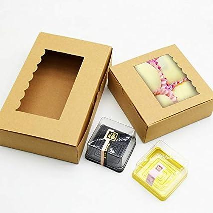 Uniqus - Caja de Papel Kraft con Caja de Regalo para Ventana, 20 Piezas,
