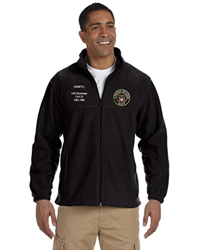 US Navy Custom Embroidered Personalized Full-Zip Fleece - (Custom Embroidered Fleece Jacket)