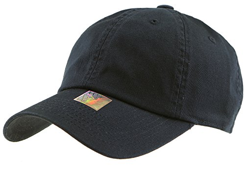 Hat Dyed Kids - RufnTop Black Eagles 100% Cotton and Denim Washed Classic Dad Hat Plain Dyed Low Profile Baseball Cap(Navy OS)