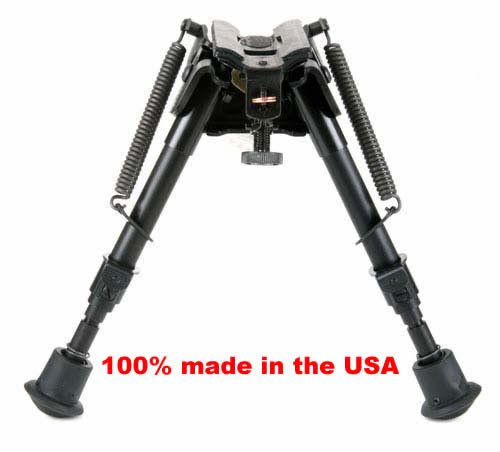 BRMS Harris bipod, 6'' to 9'' Swivels (tilts), notched legs spring loaded by Harris Engineering