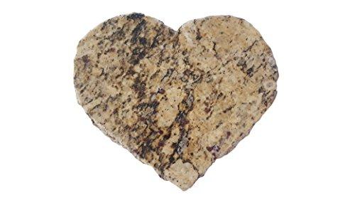 Handmade Reclaimed Granite Heart Cheeseboard with Rough Chiseled Edge, 8