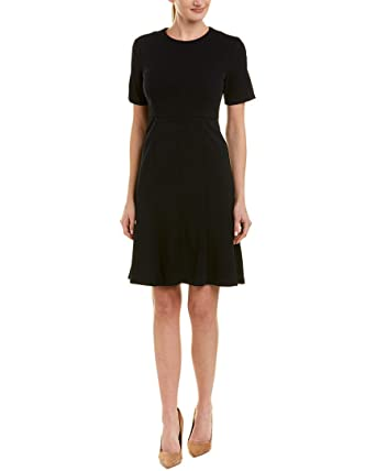 Crepe Women's Sleeve Morgan and Donna Knitted Flare Dress Short Fit rthdCsQ