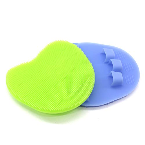 INNERNEED Silicone Body Scrubber Gentle Exfoliating Glove Shower Brush Soft Bristles – Improves Skin's Health and Beauty…