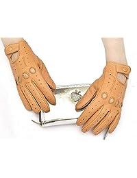 Sheepskin leather driving gloves for Women