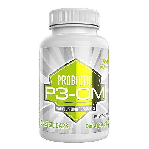 Best Probiotics for Women and Men - Premium Dr Formulated Powerful Probiotics - Non Refrigerated, Easy to Use - Patented Single Strain Probiotic - P3-OM by BiOptimizers (120 Capsules)