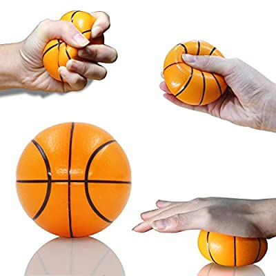 Novelty Place Squeezable Stress Balls - Anti-Stress Baseball, Basketball, Soccer, Football for Tension Relief - Relaxation Gadgets, Fidget Toys, Party Favors, Carnival Prizes(12 Pack & 4 Ballgames): Home & Kitchen