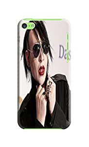 The best quality tpu phone cover case with texture for iphone5c of Marilyn Manson in Fashion E-Mall
