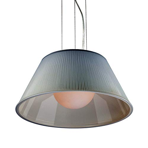 (Eurofase Lighting 23068-049 Ribo 1 Light Full Sized Pendant with Ribbed Glass Shade)