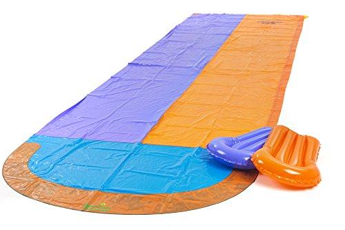 Garden Games 539 - Renn-Wasserrutsche mit zwei aufblasbaren Boogie Boards